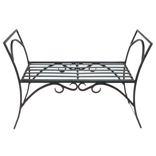 Wrought Iron Arbor Bench