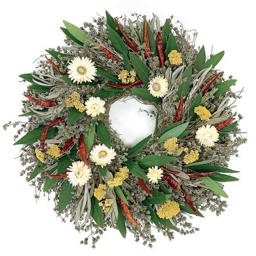 Strawflower Herb Wreath