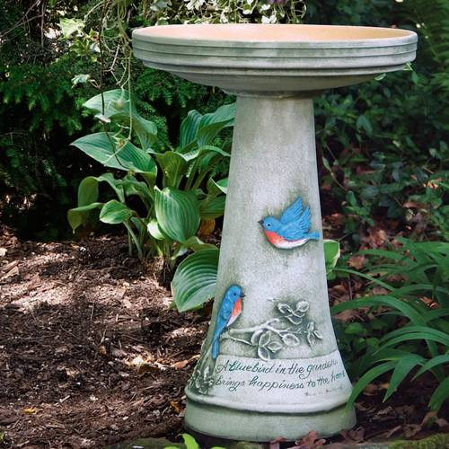 Bluebird Bird Bath Set (Lock-On)