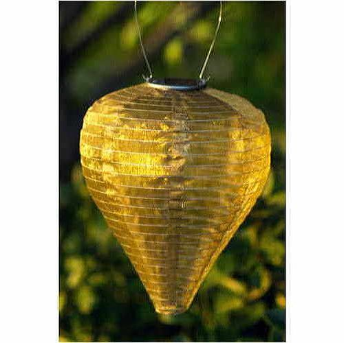 Bronze Silk Effects Teardrop Solar Lanterns