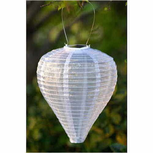 Pearl Silk Effects Teardrop Solar Lanterns