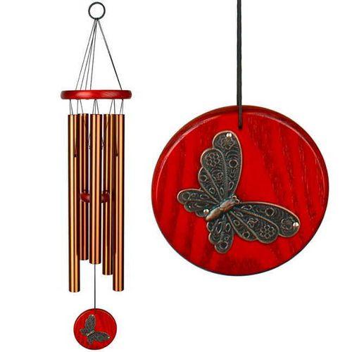 Habitats Chime--Butterfly, Bronze