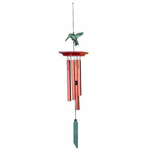 Habitats Chime--Hummingbird, Bronze