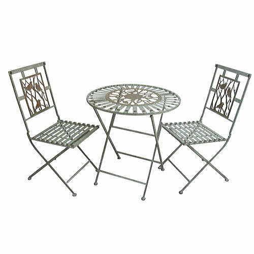 Metal Bistro Set (1 Table and 2 Chairs)