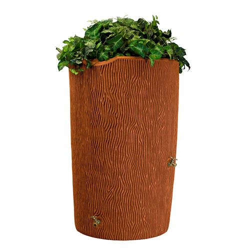 Impressions Palm 50 Gallon Rain Saver Terra Cotta