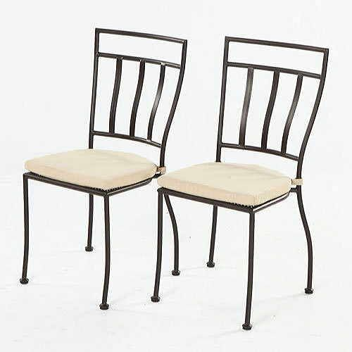 Set of 2 Semplice Bistro Chairs with Cushions