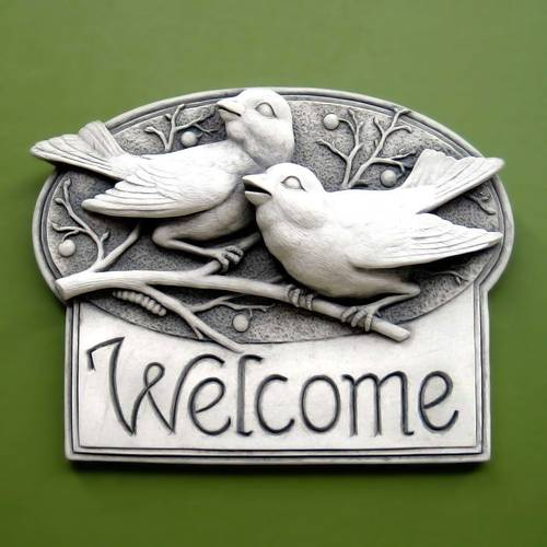 Berrybirds Welcome Plaque