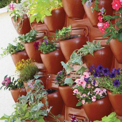 Plantscape Terra 2-Pack Vertical Planting Panels (8 planting pockets)
