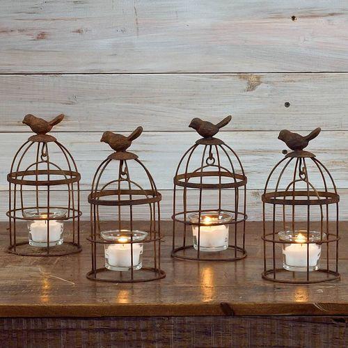 Bird Cage Votive - Set of 4
