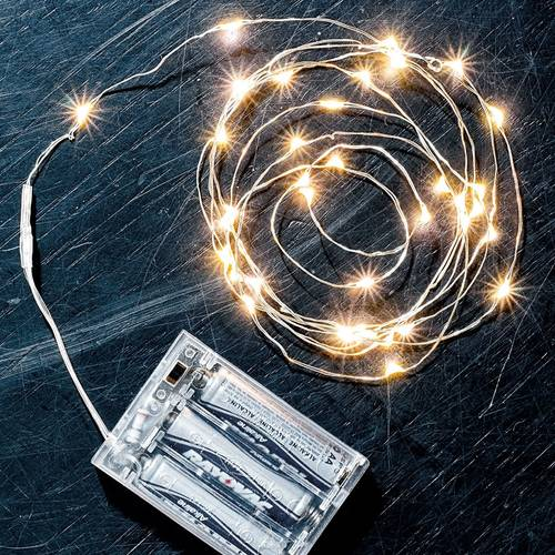 Silver String LED Lights