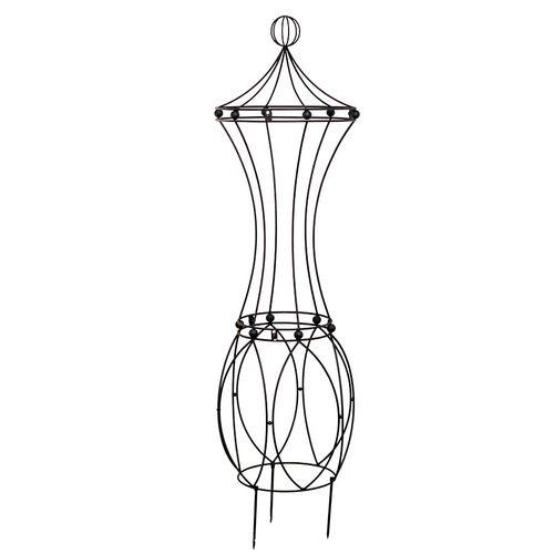 Art Nouveau Rose Pillar in Iron