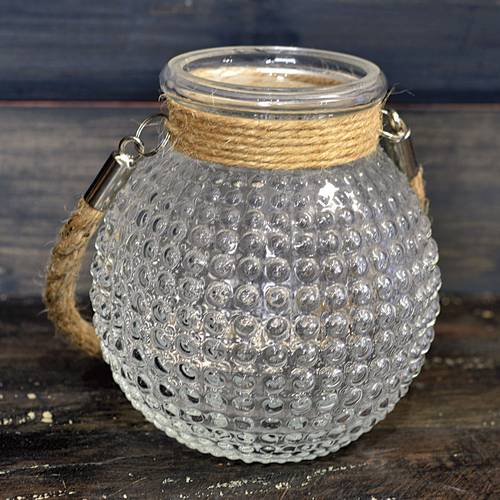 Bubble-Glass Jars Set