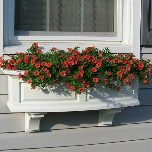 Nantucket Window Box-White