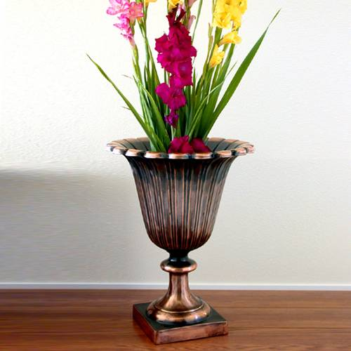 Antique Verdigris Tulip Urn