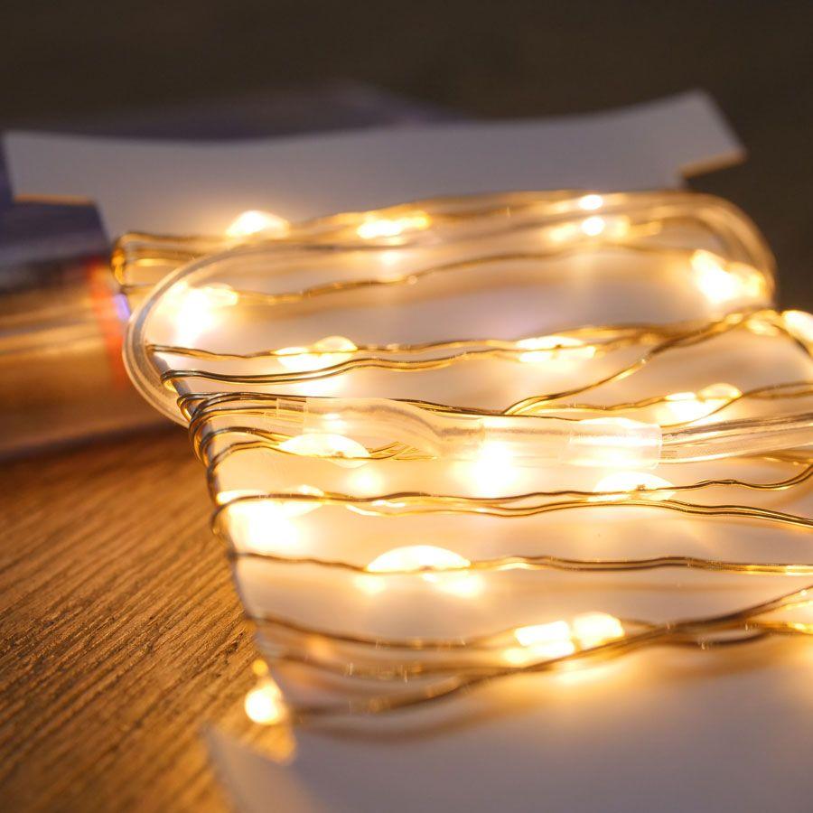 Gold LED String Lights - 40 LED Image