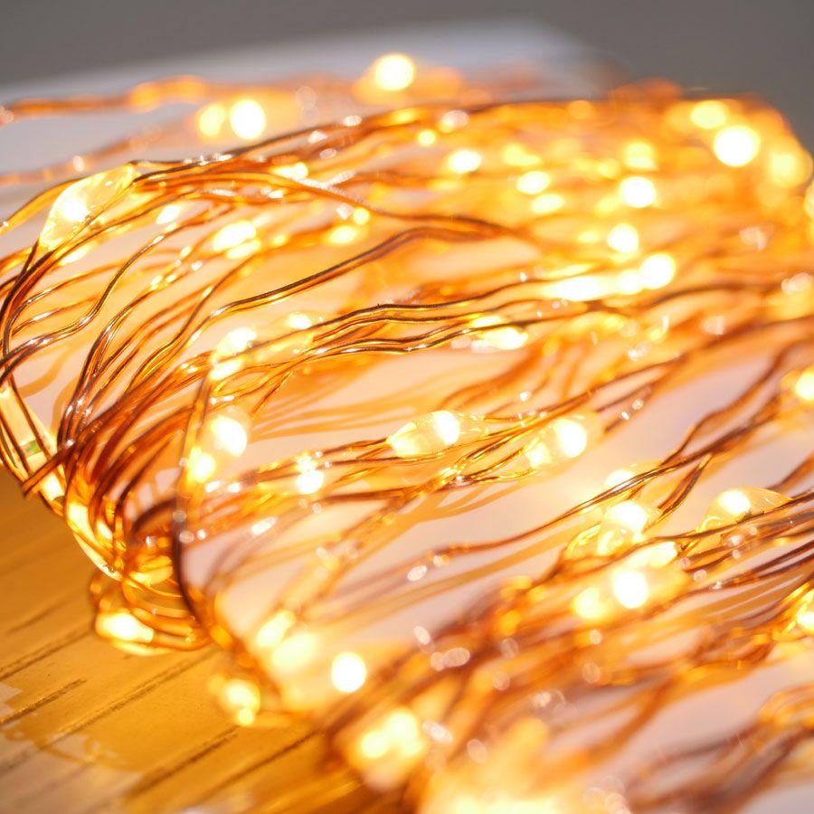 Copper LED String Lights - 100 LED Image