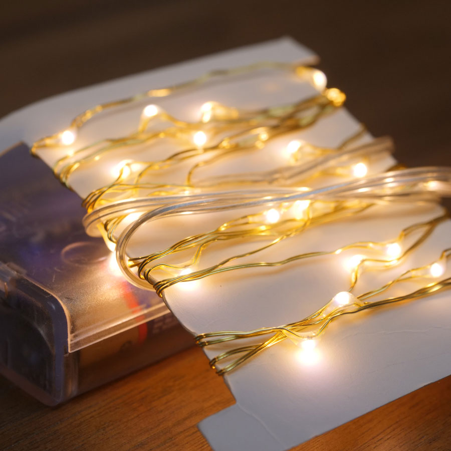 Gold LED String Lights - 80 LED Image