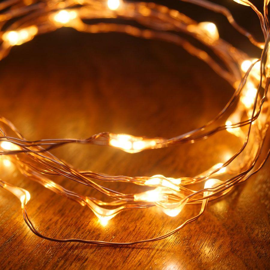 Copper LED String Lights - 40 LED Image