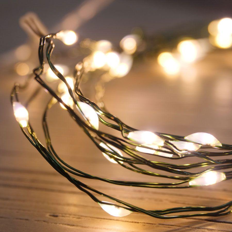Green LED String Lights - 40 LED Image