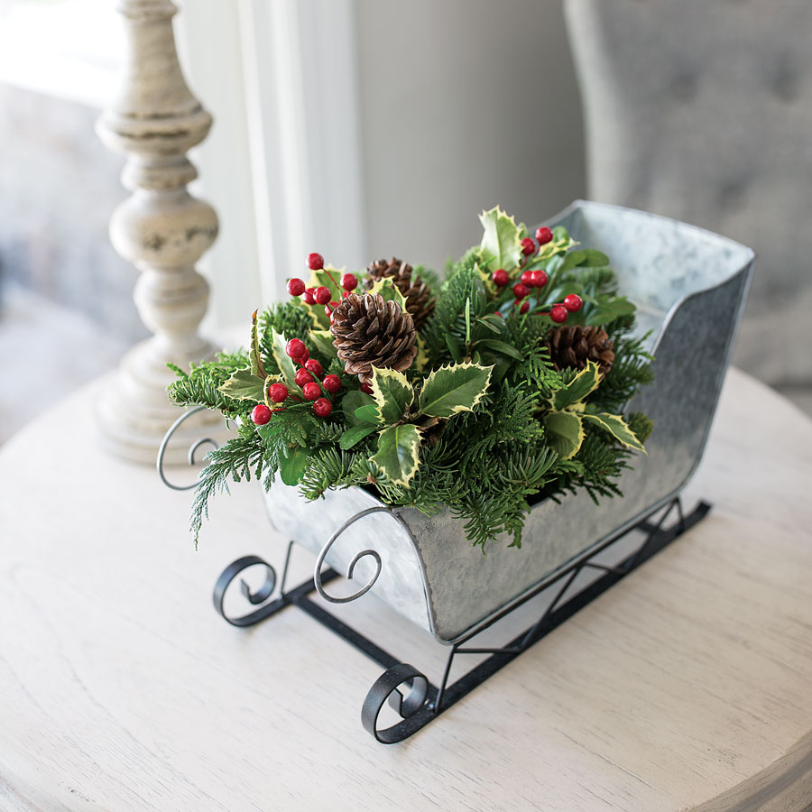 home for christmas sleigh - Decorative Christmas Sleigh Sale