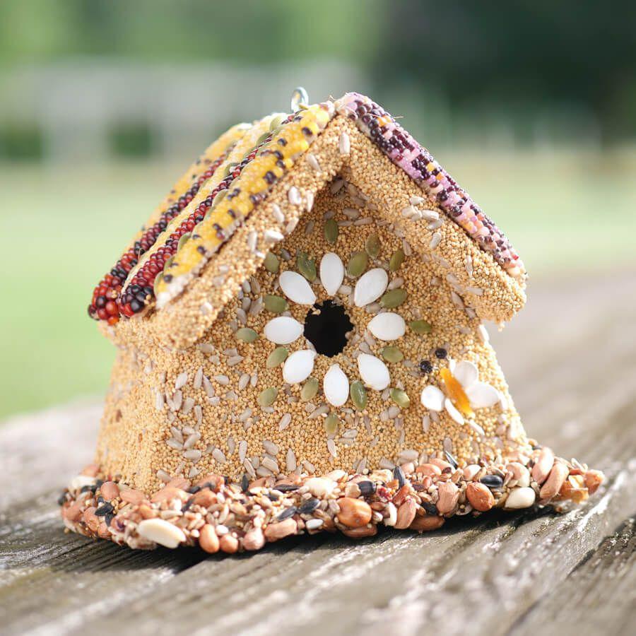Rustic Wren Birdseed House Image