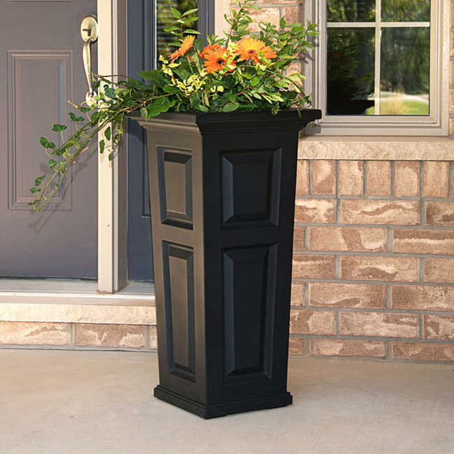 Nantucket Tall Planter Black