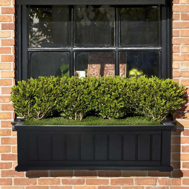 Cape Cod Window Box Black 4 Feet