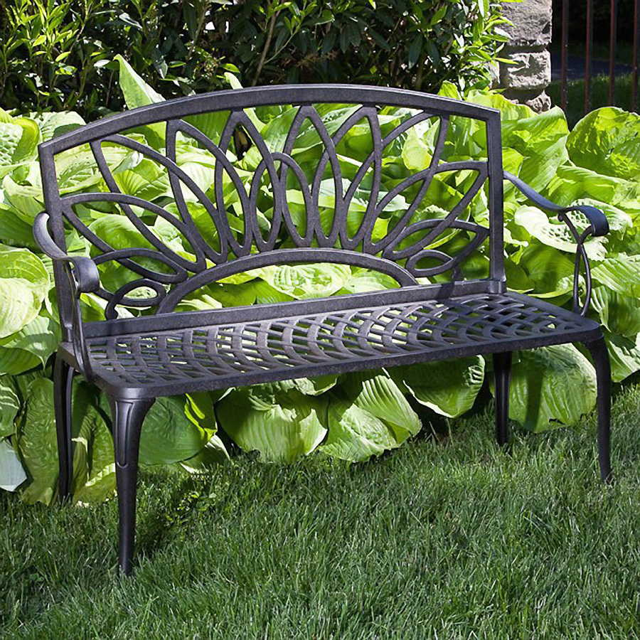 Exceptionnel Daffodil Cast Aluminum Outdoor Bench