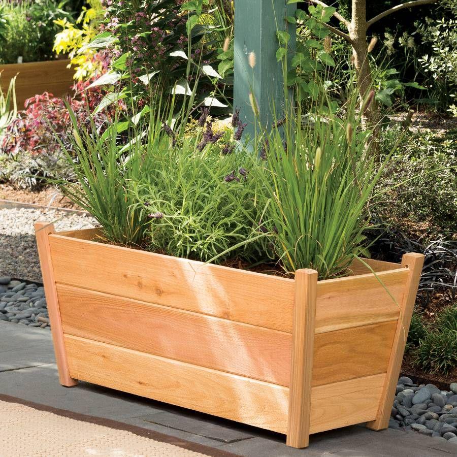 planter cedar modern huntress garden diy