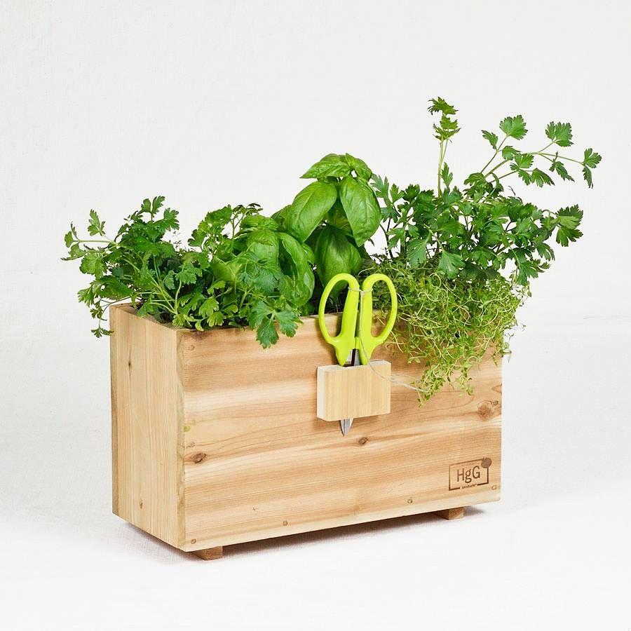 Harvest Window Box Natural Wood