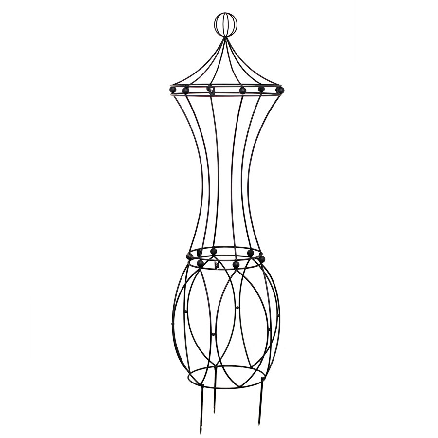 Art Nouveau Rose Pillar in Iron