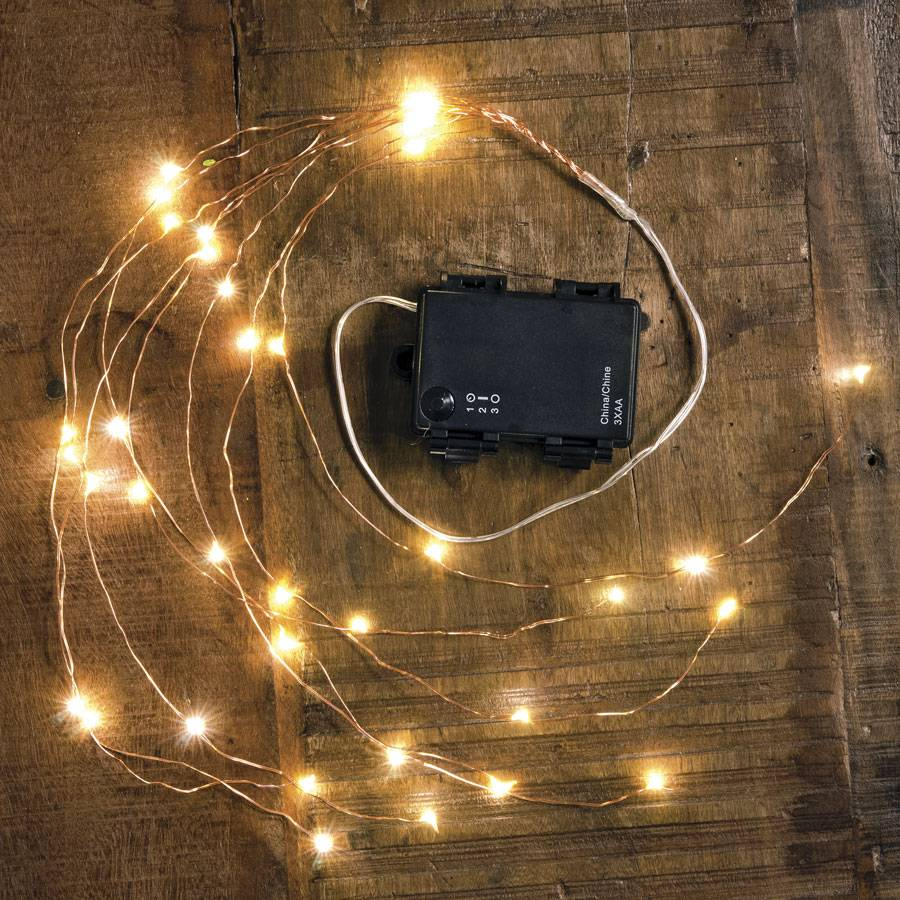 Copper Indoor/Outdoor Starry Cascading Lights Image