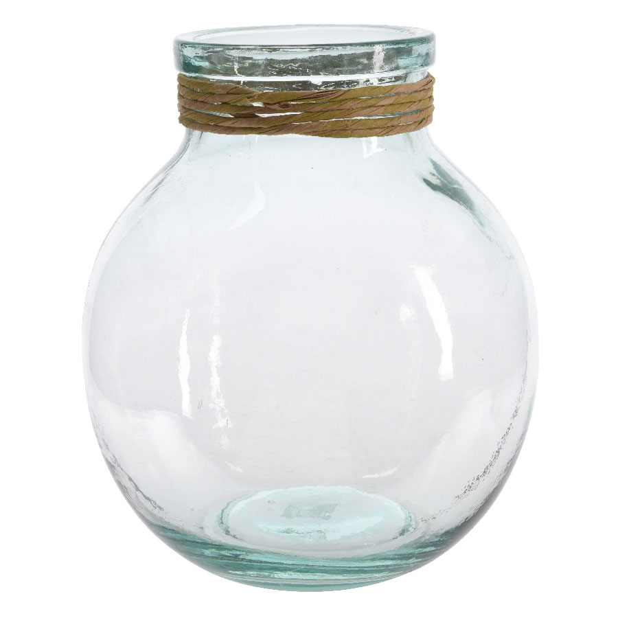 Recycled glass vase with raffia from wayside gardens recycled glass vase with raffia reviewsmspy