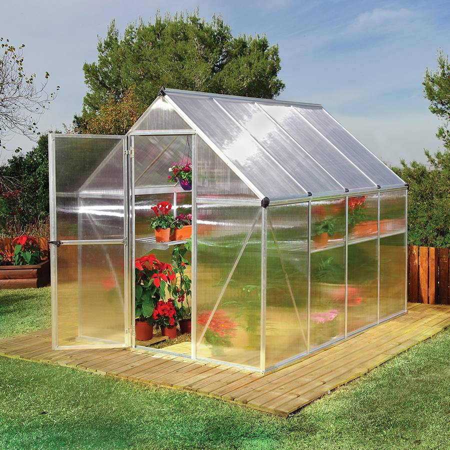 Nature Greenhouse 6' x 8' Silver