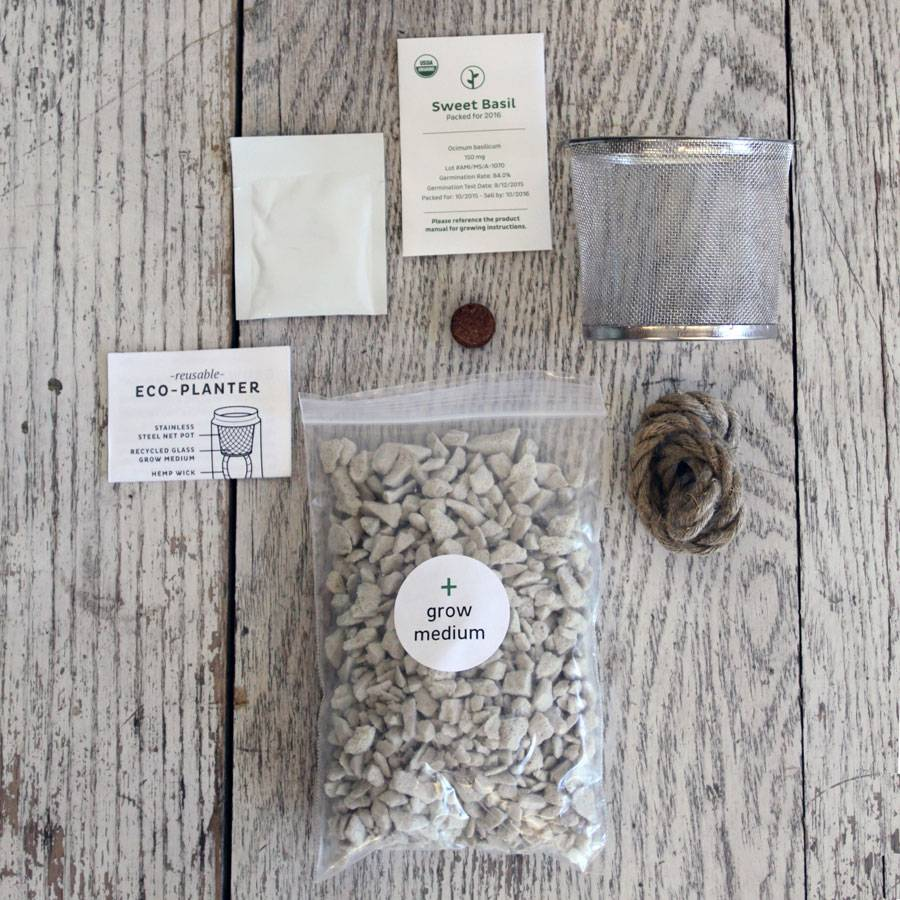 Eco Planter Organic Herb Kit